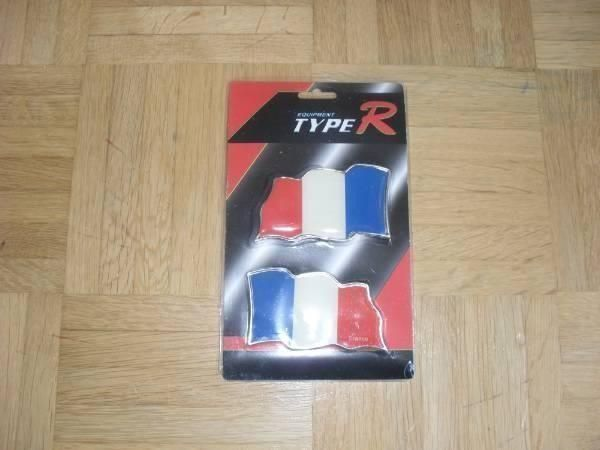 3D CAR FLAG AUTOAUFKLEBER TYPE R FRANCE
