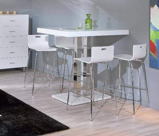 bartisch mit 4 barhocker 5 teilig weiss in kriens kaufen. Black Bedroom Furniture Sets. Home Design Ideas