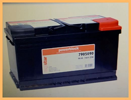 Autobatterie repstar 12V 90Ah 740A