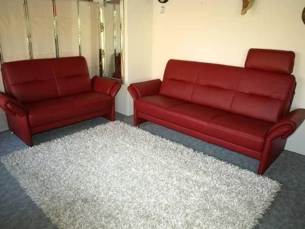 2er 3er sofa domino leder bordeaux rot in unterentfelden