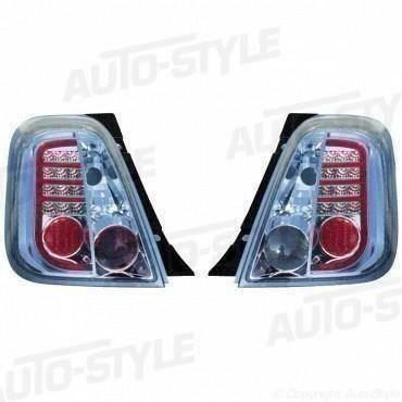 LED Heckleuchten Fiat 500 8/07- Chrom