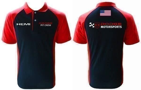 Dodge Hemi Pit  Crew Polo Shirt
