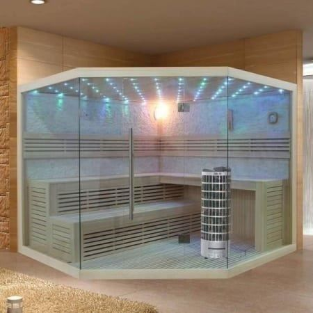 neu design sauna mit glas farblicht in ziefen kaufen bei. Black Bedroom Furniture Sets. Home Design Ideas