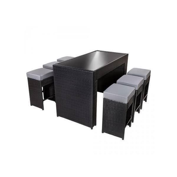 garten lounge bartisch polyrattan romanshorn acheter sur. Black Bedroom Furniture Sets. Home Design Ideas