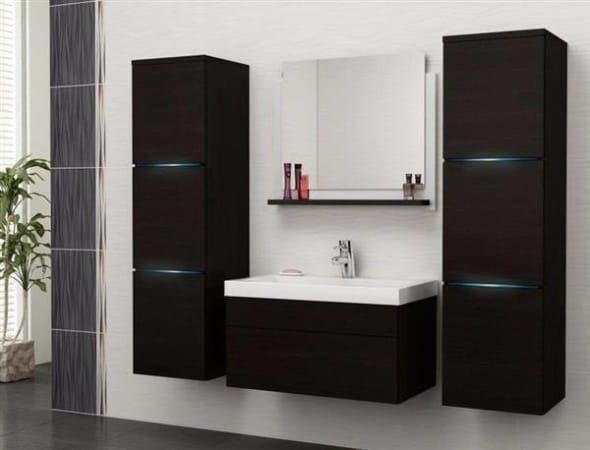 badm bel mit led wenge badezimmerm bel in tr llikon kaufen bei. Black Bedroom Furniture Sets. Home Design Ideas