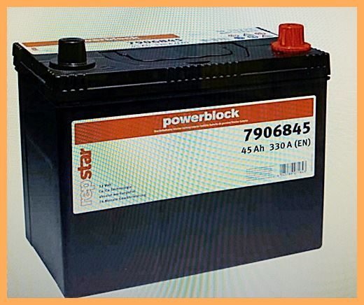 Autobatterie repstar 12V 45Ah 330A