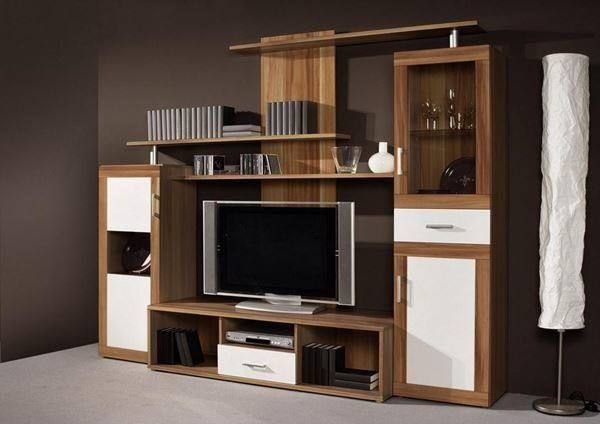 design wohnwand walnuss weiss ab lager in schaffhausen kaufen bei. Black Bedroom Furniture Sets. Home Design Ideas