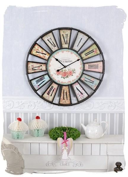 wanduhr vintage rose de provence shabby in gelsenkirchen kaufen bei. Black Bedroom Furniture Sets. Home Design Ideas