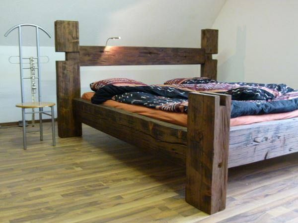 balken bett aus altholz rustikal 180x200 in altishofen kaufen bei. Black Bedroom Furniture Sets. Home Design Ideas