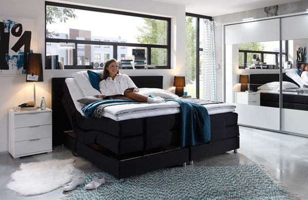 boxspringbett 180x200 cm mit motor in salez kaufen bei. Black Bedroom Furniture Sets. Home Design Ideas