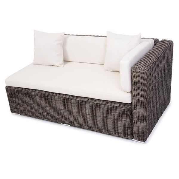 poly rattan sofa naturgrau 2er ecksofa in kreuzlingen kaufen bei. Black Bedroom Furniture Sets. Home Design Ideas