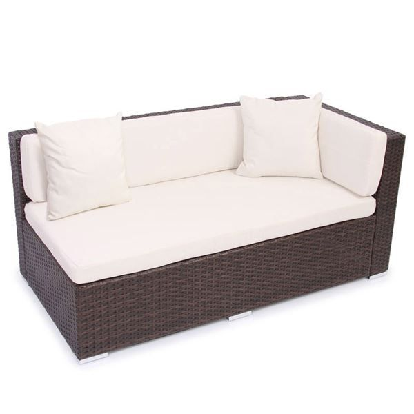 rattan sofa braun meliert 2er ecksofa in kreuzlingen. Black Bedroom Furniture Sets. Home Design Ideas