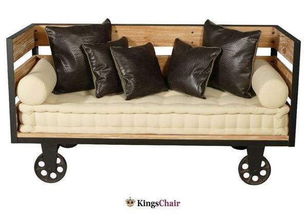 vintage car sofa mit r der inkl kissen in wallisellen kaufen bei. Black Bedroom Furniture Sets. Home Design Ideas